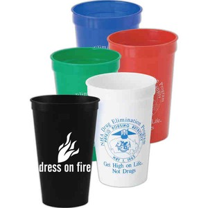 Custom Imprinted Green Color Stadium Cups