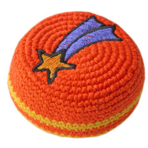 Custom Printed Guatemalan Crocheted Hackysacks