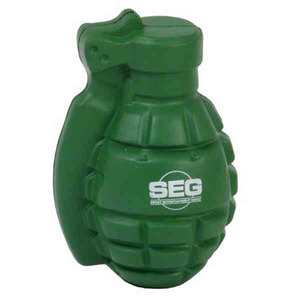 Hand Grenade Stressball Squeezies, Custom Imprinted With Your Logo!
