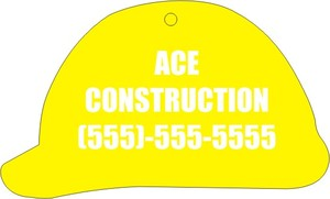 Custom Printed Hard Hat Shaped Air Fresheners