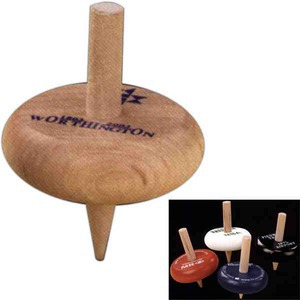 Custom Printed Hardwood Spinning Tops
