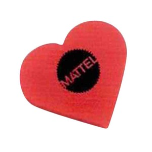 Custom Printed Heart Shaped Erasers
