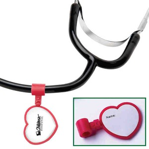 Custom Printed Heart Shaped Stethoscope ID Tags