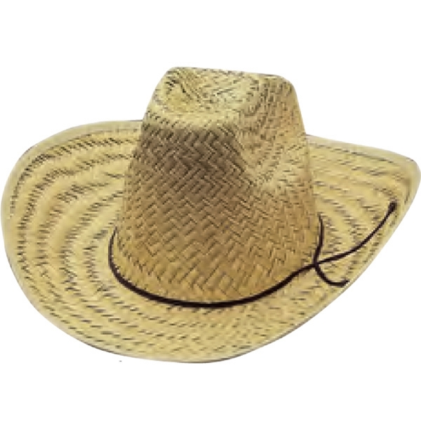 Custom Printed Straw High Crown Cowboy Hats