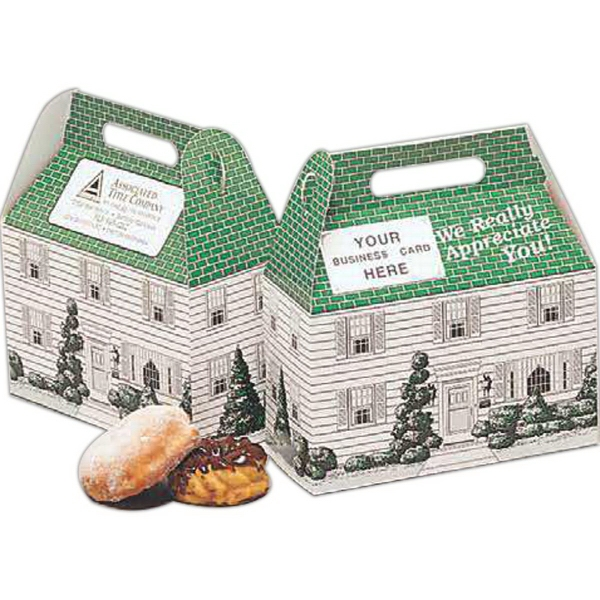 Custom Printed Home Sweet Home Design Donut Boxes