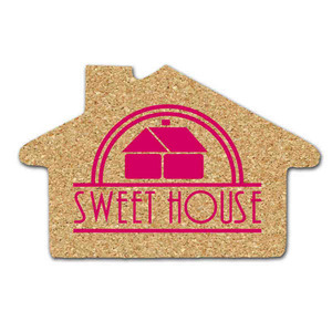 Custom Printed House Shaped Cork Coasters