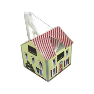 house shaped tissue boxes custom imprinted with your logo