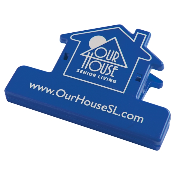 Custom Printed House Shaped Bag Clips For Under A Dollar