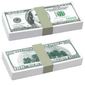 Custom Imprinted Hundred Dollar Bill Stress Relievers