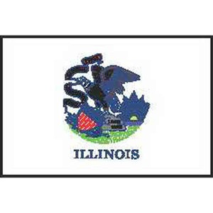 Illinois State Flags, Custom Imprinted With Your Logo!