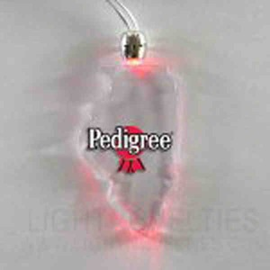 Custom Printed Illinois State Shaped Lighted Necklaces