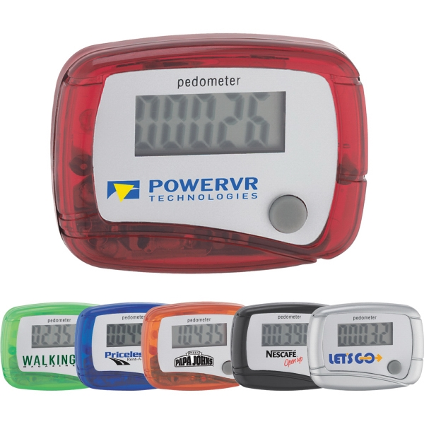 Custom Printed 1 Day Service Step Count Pedometers