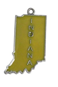 Custom Printed Indiana State Shaped Ornaments