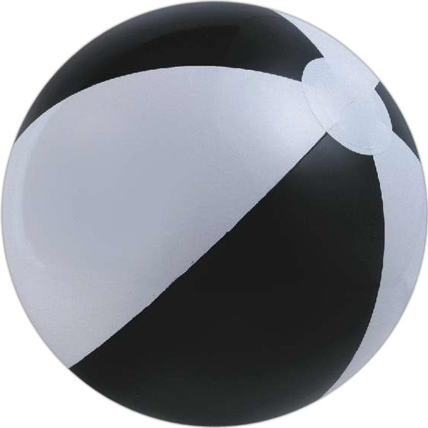 Black and White Alternating Color Beach Balls, Custom Designed With Your Logo!