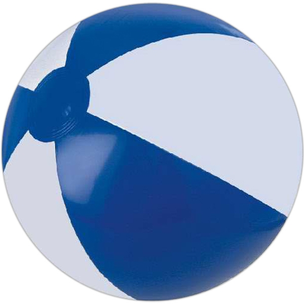 Custom Printed Blue and White Alternating Color Beach Balls