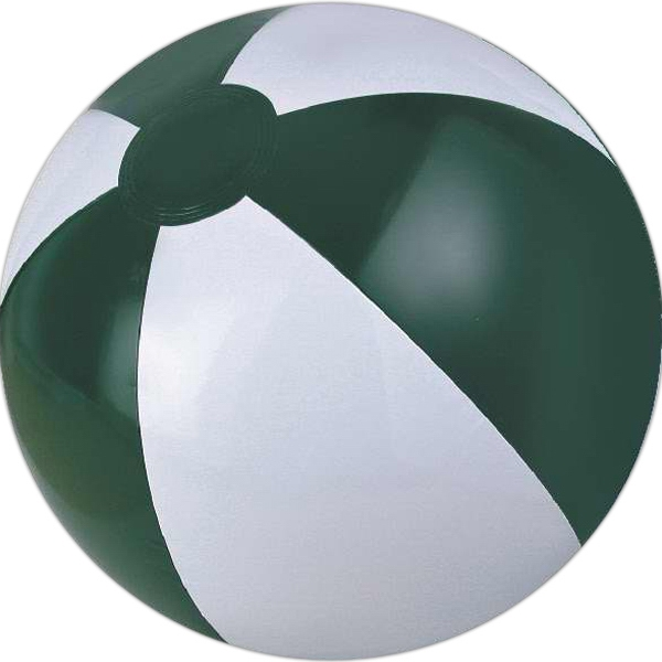 Custom Printed Forest Green and White Beach Balls