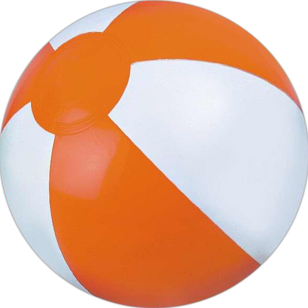 Custom Printed Orange and White Alternating Color Beach Balls
