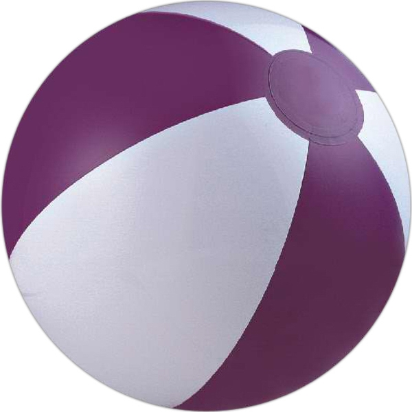 Custom Printed Purple and White Alternating Color Beach Balls