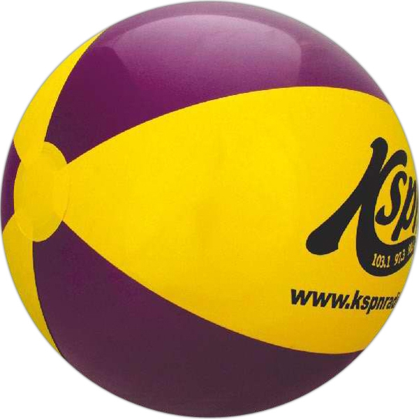 Custom Printed Purple and Yellow Alternating Color Beach Balls