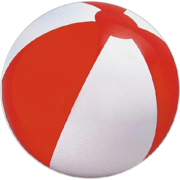 Custom Printed Red and White Alternating Color Beach Balls