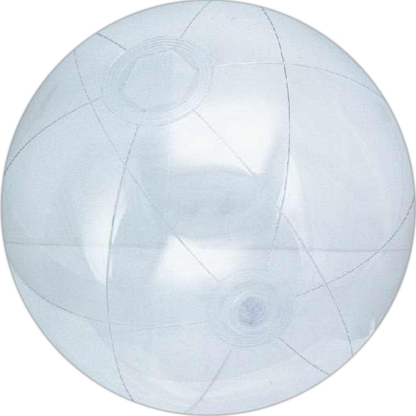 Custom Printed Clear Color Translucent Beach Balls