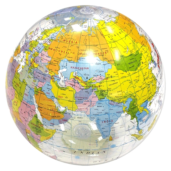 Custom Printed Large Globe Beach Balls
