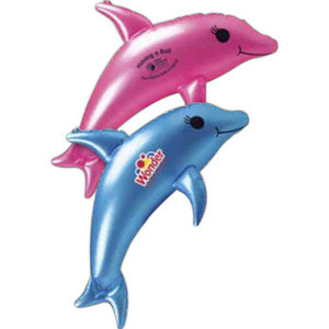 Custom Printed Inflatable Dolphin Animal Toys