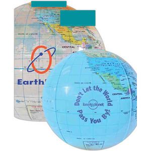 Custom Printed Inflatable Globe Beach Balls