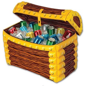 Custom Printed Inflatable Treasure Chest Coolers