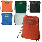 Custom Imprinted Jersey Drawstring Backpacks