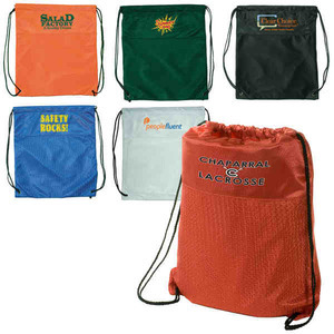 Jersey Drawstring Backpacks, Custom Imprinted With Your Logo!