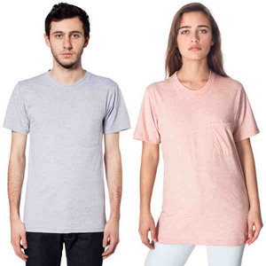 American Apparel Fine Jersey Pocket S/S T-Shirts, Custom Imprinted With Your Logo!
