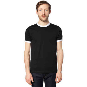 Custom Printed American Apparel Fine Jersey S/S Ringer T-Shirts For Men