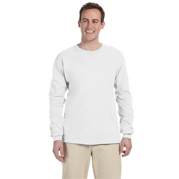 Custom Printed White Long Sleeve T-shirts