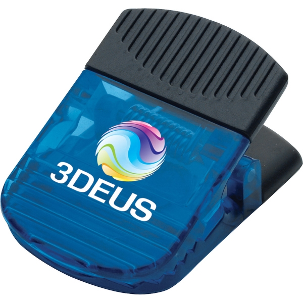 3 Day Service Jumbo Rectangular Shaped Magnetic Memo Holders and Clips, Custom Made With Your Logo!