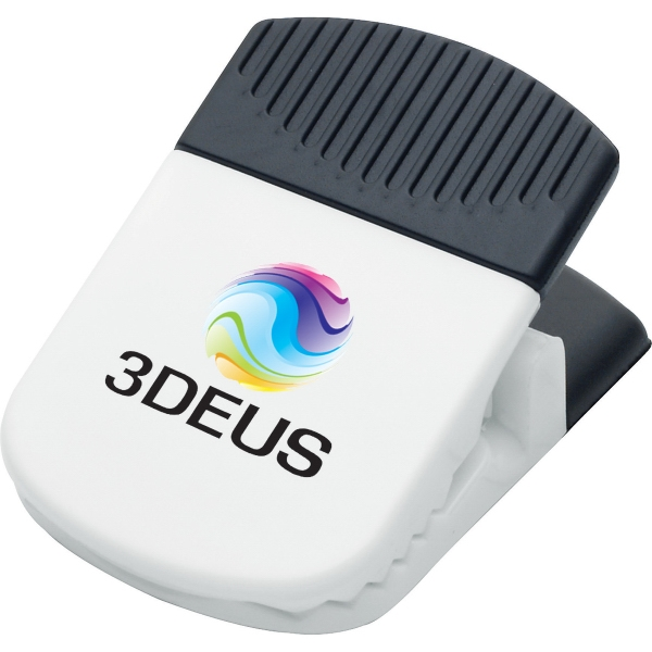 1 Day Service Jumbo Magnetic Memo Holder Clips, Custom Imprinted With Your Logo!
