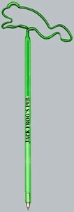 Jumping Frog Bent Shaped Pens, Custom Imprinted With Your Logo!