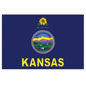 Custom Printed Kansas State Flags