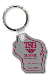 Custom Printed Kansas State Shaped Key Tags