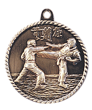 Karate High Relief Medals, Customized With Your Logo!