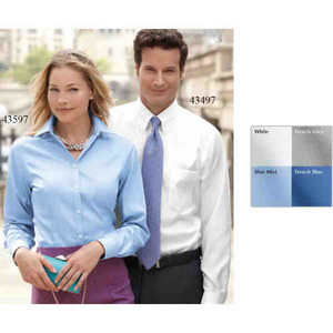 Ladies Van Heusen Woven Dress Shirts, Embroidered With Your Logo!