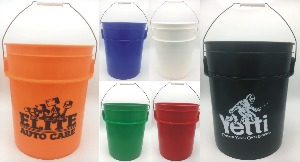 Large 5 Gallon Buckets, Custom Imprinted With Your Logo!