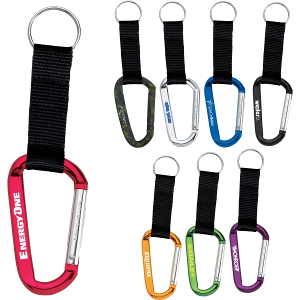 1 Day Service 8mm Carabiners, Custom Imprinted With Your Logo!