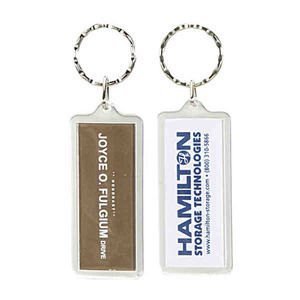 Custom Printed Large Rectangle Shaped Acrylic Keytags