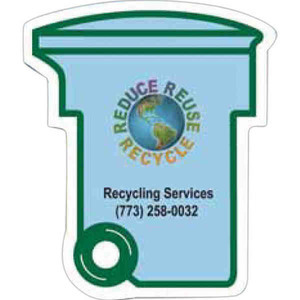 Custom Printed Large Recycle Bin Recycled Material Magnets