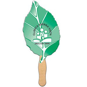 Custom Printed Leaf Stock Shaped Paper Fans
