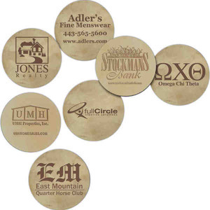 Leather Coasters, Custom Imprinted With Your Logo!