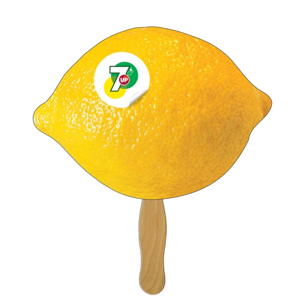 Custom Printed Lemon Stock Shaped Paper Fans