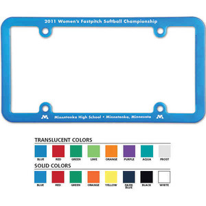 Custom Printed License Plate Frames For Under A Dollar