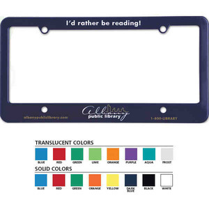 License Plate Frames For Under A Dollar, Custom Imprinted With Your Logo!